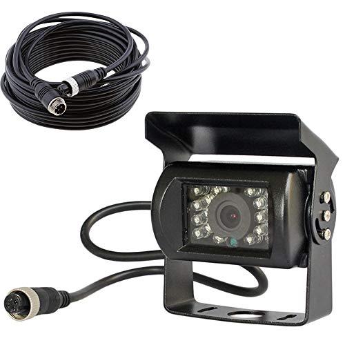 12V-24V 4pol Bus Truck Trailer Heavy Duty 18IR LEDs Nachtsicht wasserdicht Rückfahrkamera Backup Kamera mit 15m Kabel 4pol