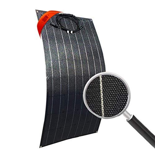 AUECOOR 100 Watt Flexible Solar Panel Bendable Solar Panel Waterproof Monocrystalline Solar Module for RV,Boat, Trailer,Shed,12V Battery Charging Off Grid