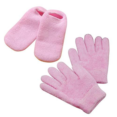 Frcolor Gants hydratants set de chaussettes hydratantes pour pieds et mains secs et gercés 2 paires