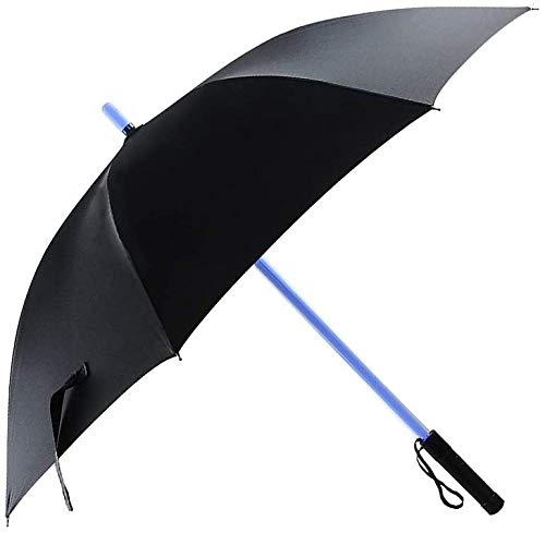 Nomiou Lightsaber Light Up Umbrellas with 7 Color Changing Effects, Windproof Golf Umbrellas with Flashlight Handle