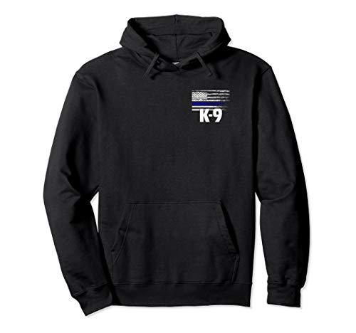 K-9 Police Officer USA Flag Hoodie LEO Cops Law Enforcement