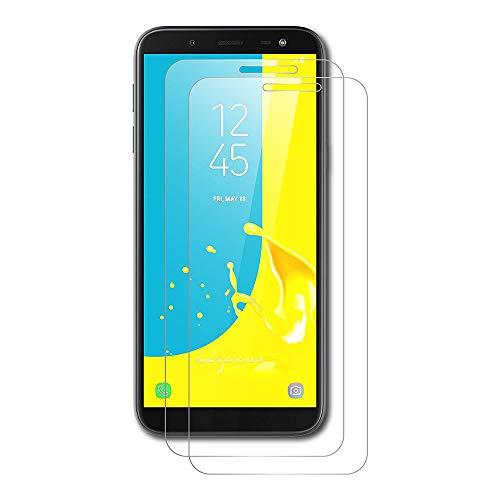 AICEK [2 Stück] Samsung Galaxy J6 2018 Schutzfolie, Tempered Glass Displayschutzfolie für Samsung J6 2018 Schutzglas Screen Protector Gehärtetem Glas Klar Displayschutz Galaxy J6 2018 Panzerglas