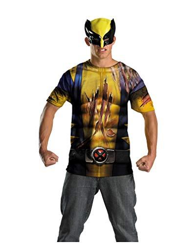 Horror-Shop Wolverine Männer Shirt mit Maske