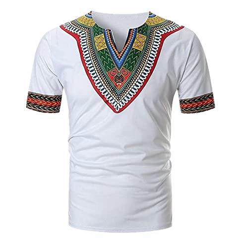 N\P Camisetas De Los Hombres De Verano Casual Print Neck