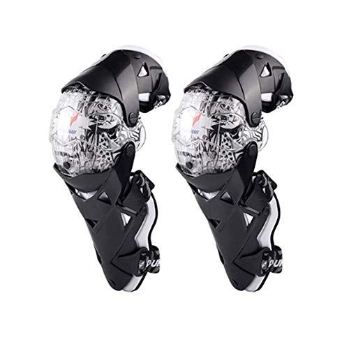 DAYIMIYA Knieprotektoren Lange Schienbeinschutz für Motocross Motorrad Fahrrad Skateboard-Fahrrad das taktischen Sport läuft 2 STÜCKE,White