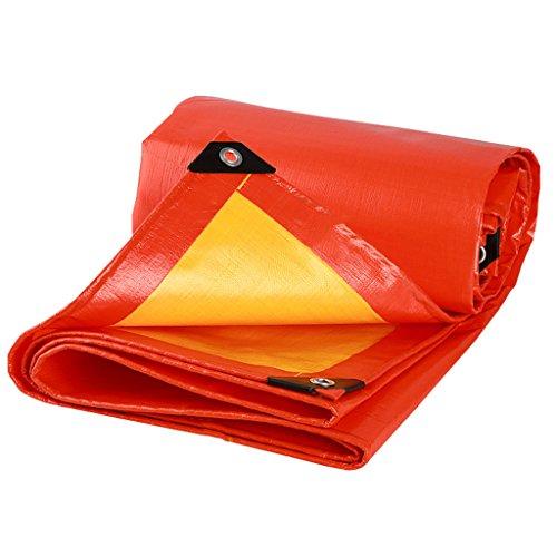 LQq-Bâches Bâches de feuille de bâche imperméable à l'eau extérieure, 210G / m², épaisseur 0.38MM, 14 taille disponible, rouge pour le camping en plein air (taille : 2m*3m)