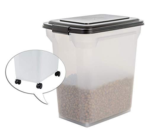 IRIS, 'Air Tight Food Container', ATS, Plastic, Transparent / Black, 45 Litre, 46 x 33.5 x 50 cm, 15 kg
