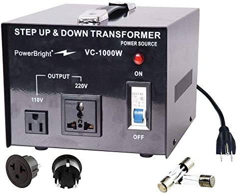 PowerBright Step Up & Down Transformer, Power ON/Off Switch, Can be Used in 110 Volt Countries and 220 Volt Countries, Convert from 220-240 Volt to 110-120 Volt AND from 110-120 Volt to 220-240 (200W)