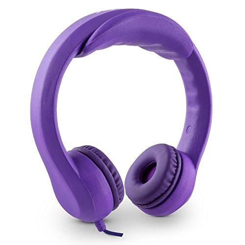 Auna Flexi Cuffie per Bambini max. 85 dB in ultra silenziose e ultra flessibili verdi