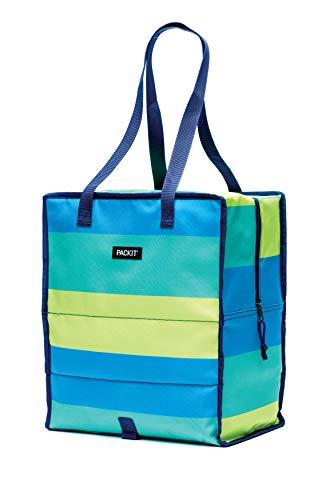 Packit 2292695 Fresh Stripe Einkaufs-kühltasche, Acryl, Mehrfarbig