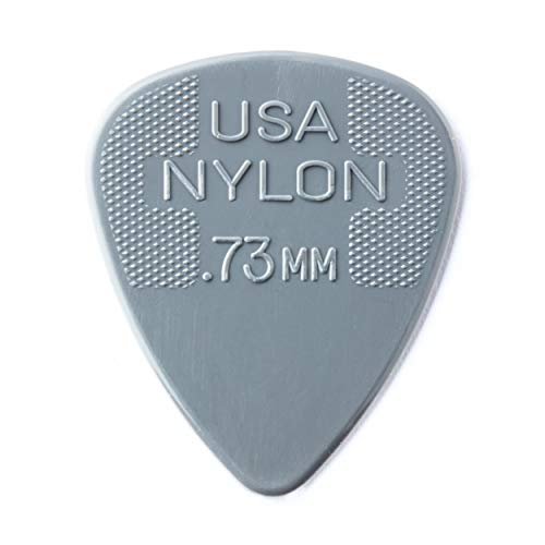 Dunlop 44P73 .73mm Nylon Standard Guitar Picks, 12-Pack