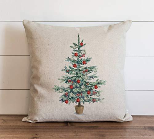 Promini Christmas Tree Pillow Cover Christmas Pillow Covers Xmas Pillow Holiday Throw Pillow Accent Pillow Case Cushion Pillowcase for Sofa Home Decor 20 x 20 Inches