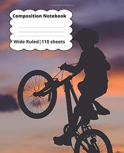 Composition Notebook: Mountain Bike 1 Subject Softcover Notebook
