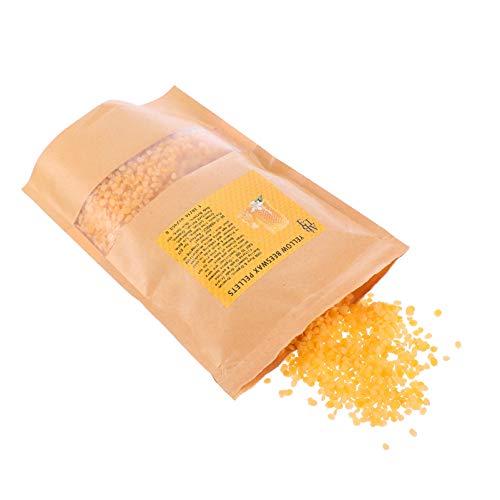EXCEART 450 G/Zak Bijenwas Pellets Kaars Wax Pellets Organische Bijenwas Pastilles Voor Diy Ambachtelijke Projecten Lippenbalsems Lotions Kaarsen