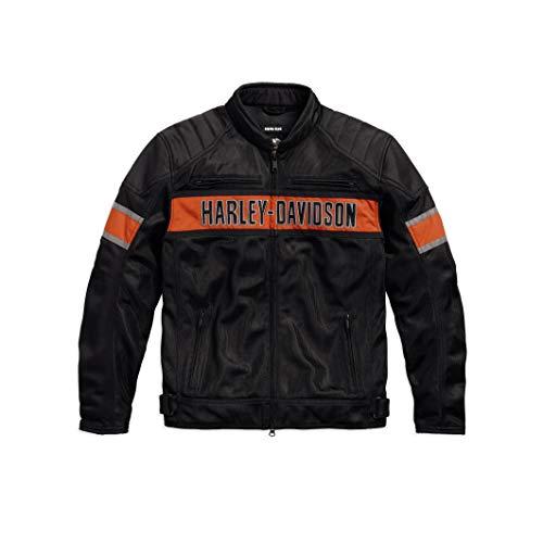Leather Riding Jacket Men's Long