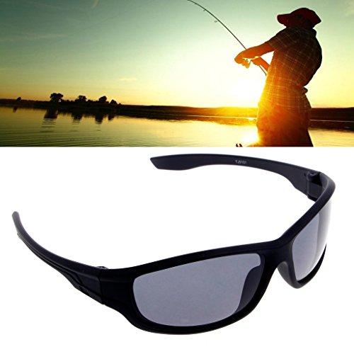 Jiamins Herren Sonnenbrille, polarisiert, schwarz, polarisiert, für Fahren, Radfahren, Angeln und andere Sportarten