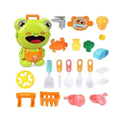 SYXX Children Boys and Girls Play House Toy Pet Dog Basket Animal House Simulation Doctor Veterinary Injection Stethoscope Medical Equipment Hospital Simulation Medical Equipment Set (Color : Frog)