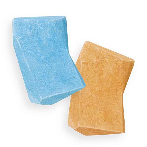 Nimm Zwei Duschbrocken 2er Set | 2 in 1: Festes Shampoo und Duschgel in einem | Plastikfrei und vegan | Inkl. smarter Dose [Die Höhle der Löwen]