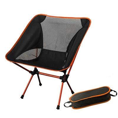 WHBGKJ Silla de Camping Ultraligero Luna sillas portátiles Jardín Al Silla de la Pesca El Director del Asiento extraíble Camping Plegable Muebles de la India Sillón (Color : SF73300OG)