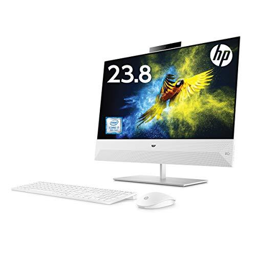HP 液晶一体型 デスクトップパソコン インテルCore i7 16GB 256GB SSD+2TB ハードドライブ 23.8 インチ タッチ対応 フルHD ディスプレイ NVIDIA GeForce GTX 1050 グラフィックス搭載 Windows10 HP Pavilion All-in-One 24 WPS Office付き (型番:6DU74AA-AAAP)
