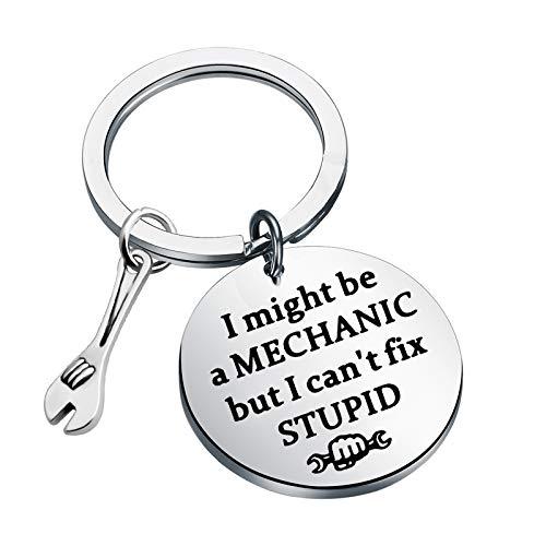 CENWA Mechanic Gift Auto Mechanic Keychain I Might Be A Mechanic But I Can't Fix Stupid Keychain Car Mechanic Car Repair Gift For Mechanician Car Enthusiast Father's Day Gift (I Might Be A Mechanic)