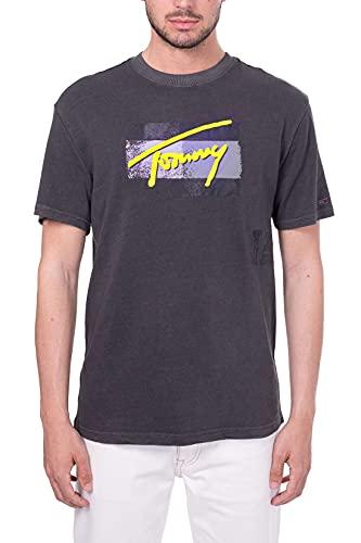 Tommy Jeans - Camiseta con logotipo vintage Negro XXL