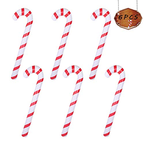 Tetor Inflatable Candy Canes for Christmas Decorations Candy Canes Balloons for Party Decorations Outdoor Candy Canes Decorations (6)