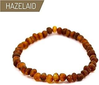 Hazelaid (TM) 7 Baltic Amber Nutmeg Bracelet (on elastic)