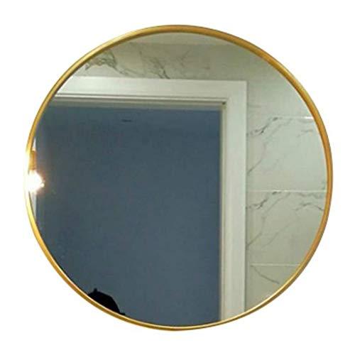 XQAQX badkamerspiegel make-up spiegel voor wandmontage, ovaal, schuine rand van glas, zilverkleurig, wandspiegel voor badkamer