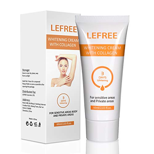 Whitening Cream, Lightening Cream for Armpit, Knees, Elbows,Secret Areas, Whitens, Nourishes,...