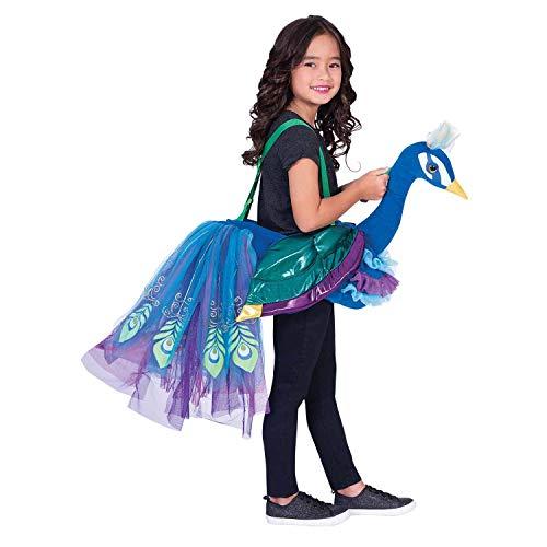 Amscan RPE - Disfraz infantil de pavo real para equitación (unisex, 98-128 cm), multicolor , color/modelo surtido