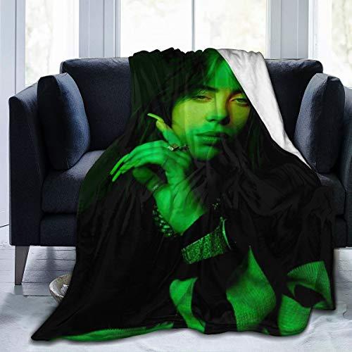 GEHIYPA Bil-lie Ei-li-sh Decke, Flanell, superweich, Fleece, Überwurf, Decke, Zuhause, Bett, Sofa, alle Jahreszeiten, 127 x 101,6 cm