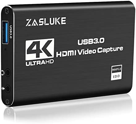 ZasLuke Game Capture Card USB 3 0 4K Audio Video Capture Card with HDMI Loop Out 1080P 60FPS product image