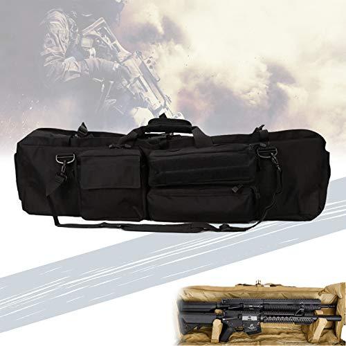 TBDLG Rifle Accesorios Bolsa, Bolso Táctico para Fusil con Cojín de Pedestal, Tela Impermeable, Capacidad para Dos Rifles, Bolsa de Pistola Diagonal de Un Solo Hombro para Caza