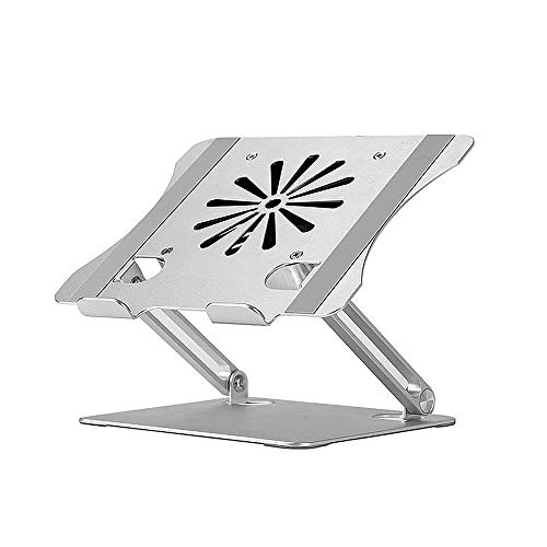 Fesjoy Stand, Adjustable Aluminum Alloy Laptop Stand with Cooling Fan Foldable Laptop Holder Compatible with 10-17.3 inch Laptop
