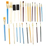 Juego de pinceles de pintura de 25 piezas, cepillo de pintura de gouache de arte de pelo suave DIY pintura al óleo pintura de acuarela herramientas de dibujo para pintura principiante(25 piezas)