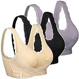 iClosam Sujetador Deportivo Encaje Mujer(1/2/3pack) Bra Push Up con Almohadillas Extraíbles para Yoga/Fitness/Ejercicio/USA de Diaria