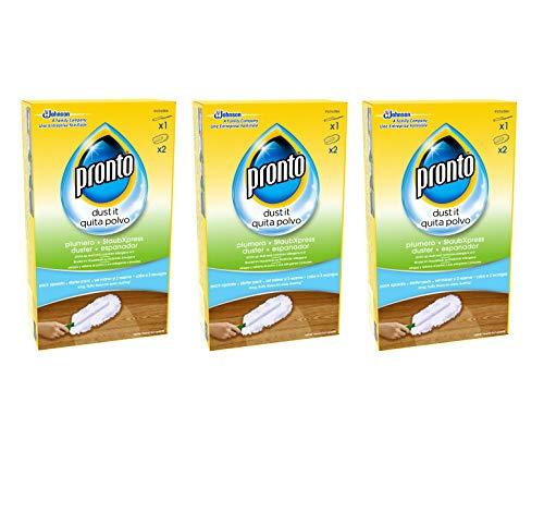 Pronto Plumero Atrapa Polvo, Pack De 3 [3 Aparatos + 6 Recambios], color Incoloro, Estandar, 700 g - Pack de 3