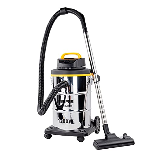 Geepas 1200W Wet & Dry Vacuum Cleaner | Bagless Vac for Indoor or Outdoor...