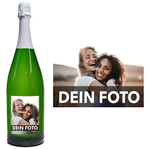 Eventwein Sekt in Magnumflasche mit eigenem Foto gestalten, persönliches Geschenk zum Geburtstag, zur Hochzeit oder zu Weihnachten - Herkunft: Deutschland, trocken, 1.5L