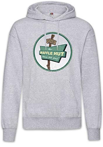 Urban Backwoods The Waffle Hut I Hoodie Kapuzenpullover Sweatshirt Grau Größe 2XL
