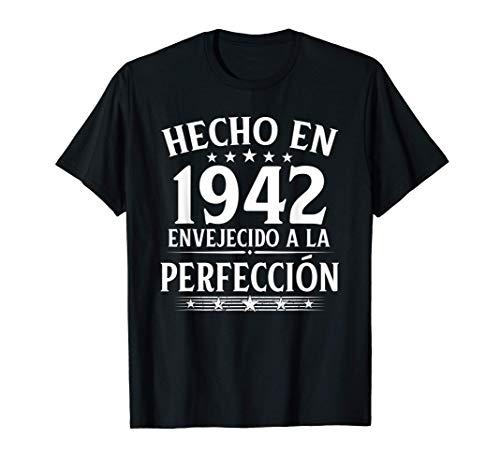Hecho En 1942 Regalo Para Hombre 78 Años Cumpleaños Mujer Camiseta