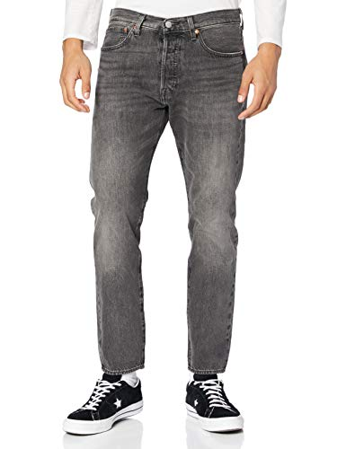 Levi's Mens 501 Slim Taper Jeans, Just Grey, 34