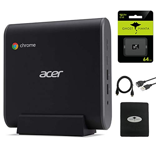 2021 Newest Acer Chromebox Premium CXI3 Mini PC, Intel Celeron 3867U(N4000), 8GB RAM, 128GB SSD, Keyboard, Mouse 802.11ac WiFi 5, USB-C, HDMI, Chrome OS + GM 64GB SD Card