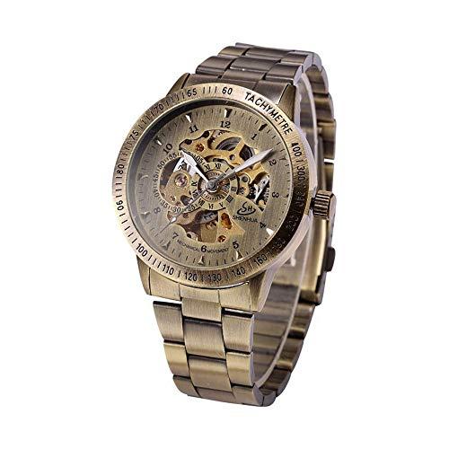 LKNJLL Reloj automático de Acero Inoxidable