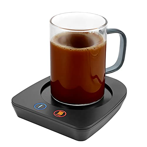 VOBAGA Coffee Mug Warmer & Cup Set, Electric Beverage Warmer with Three Temperature Settings for Home Office Desk, Smart Coffee Warmer Plate with Auto Shut Off for Cocoa Tea Water Milk