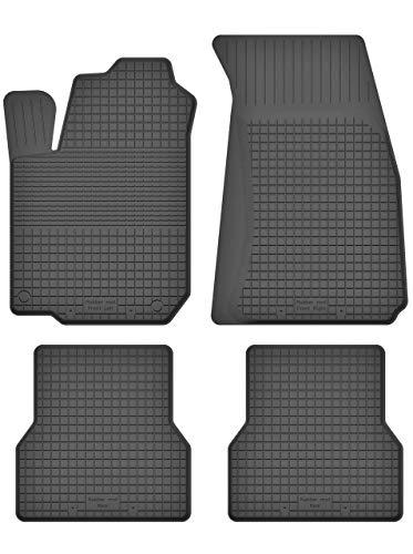 KO-RUBBERMAT Gummimatten Fußmatten 1.5 cm Rand geeignet zur Renault CLIO III IV (Bj. 2005-2019) ideal angepasst 4 -Teile EIN Set