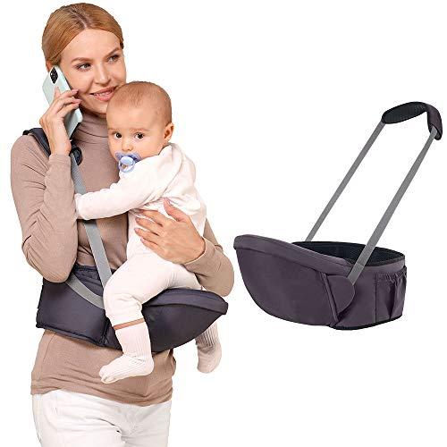 caiyuanggUS Baby Hip Seat Carrier Waist Stool Ergonomic Reduce Waist Hip Seat for Mom Breathable Carrier for Newborns Dark Blue