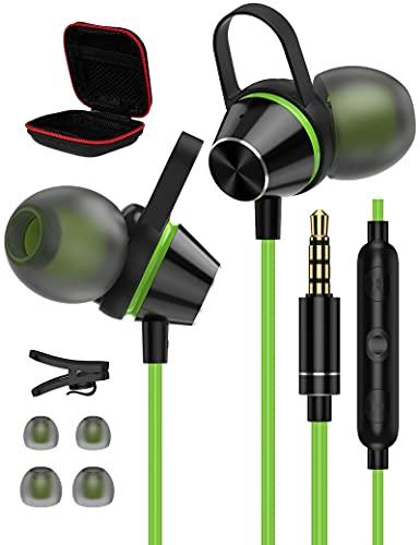 ACAGET Cuffie in Ear per Samsung A12 A51 A32,Magnetici Auricolari da 3,5 mm,Cuffie con Microfono Controllo Volume,Cancellazione del Rumore Auricolari con Filo per iPhone 5 6S Plus,OnePlus Nord N200