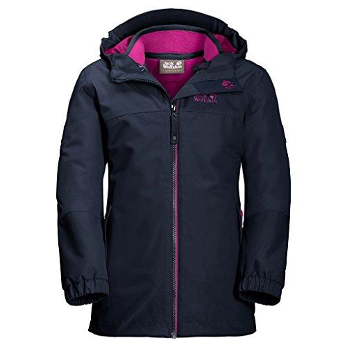 Jack Wolfskin Mädchen G Iceland 3-in-1 Jacket 3-in-1 Jacke, Midnight Blue, 176